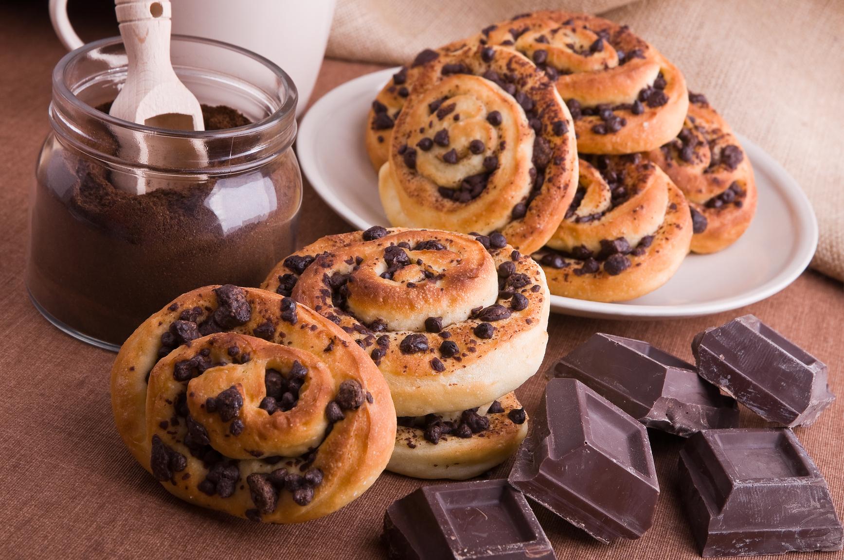 шоколадные булочки